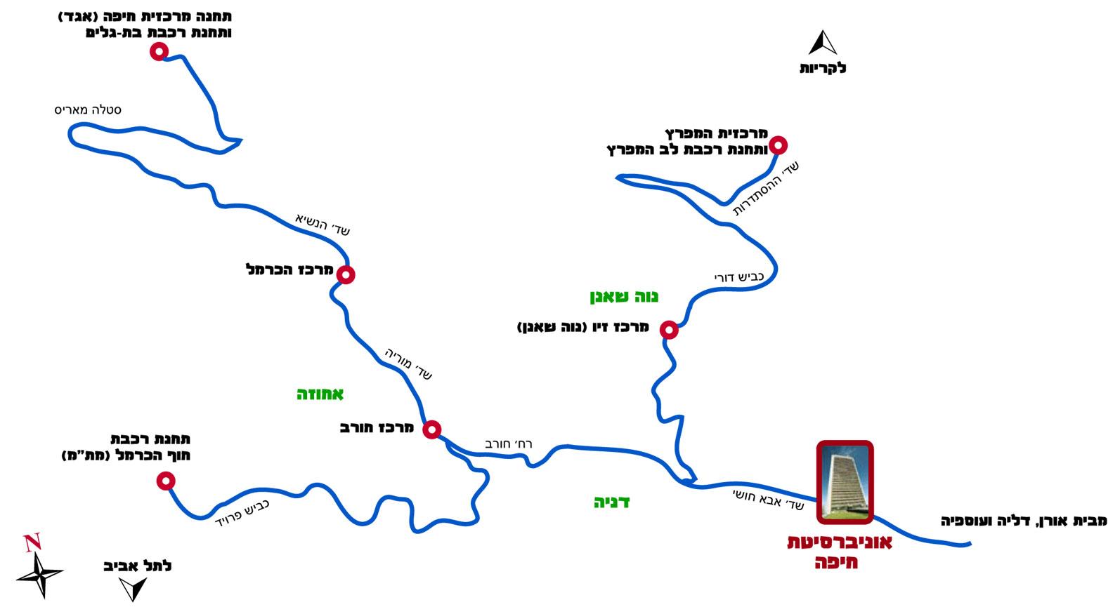 מפת האיזור